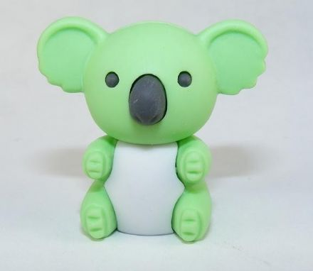 IWAKO NOVELTY ERASERS / RUBBERS - GREEN KOALA